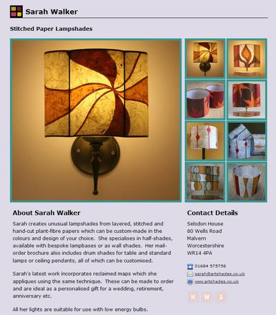 Guild web page Sarah Walker