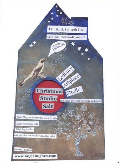 Angie open studio poster