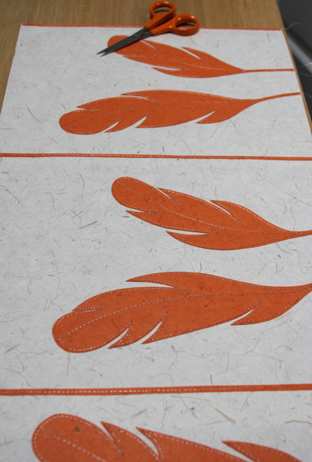 Stitched-feather-panel
