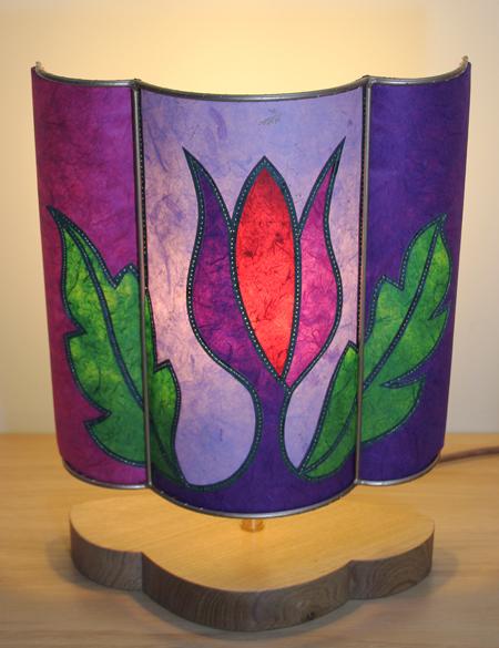 Flower-lamp-lit