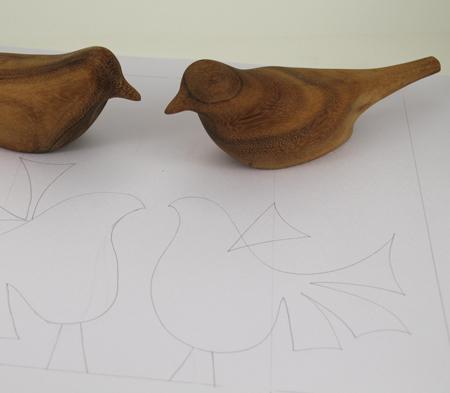 Wooden-birds