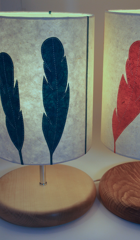 Feather-lamps