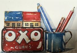 Oxo tin painting